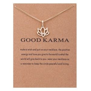 4 for $25 good karma lotus flower necklace